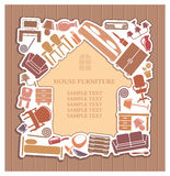 Furniture for the house. stock illustration
