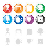 Furniture icon Stock Images
