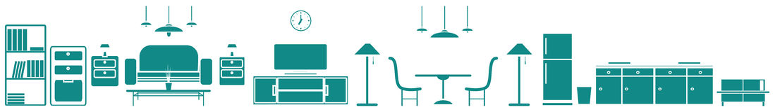 Furniture icon for banner Royalty Free Stock Photo