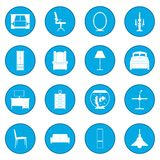 Furniture icon blue Royalty Free Stock Image