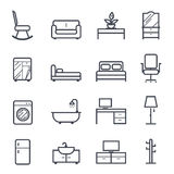 Furniture Icon Bold Stroke. On White Background. Vector Illustration Stock Photo