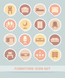 Furniture icon set Stock Image