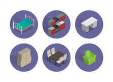 Furniture icon set Royalty Free Stock Photography