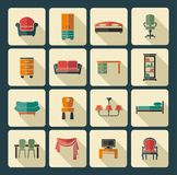 Furniture icon set Stock Images