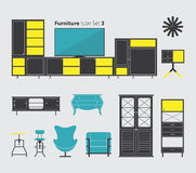 Furniture Icon Set 3 Royalty Free Stock Photos