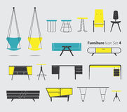 Furniture Icon Set 4 Royalty Free Stock Photography