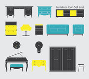 Furniture Icon Set 2nd Royalty Free Stock Photography