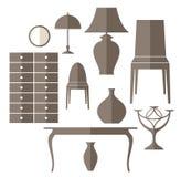 Furniture. Icon set Stock Photo