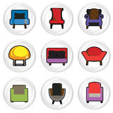 Furniture icons vector illustration