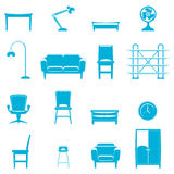 Furniture icons Royalty Free Stock Images