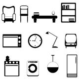 Furniture icons royalty free illustration