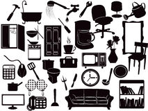 Furniture icons. Several Furniture icons for design Stock Images