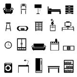 Furniture icons. Set of furniture icons vector Royalty Free Stock Images