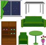 Furniture icons. Classical furniture. A set of furniture on a wh Royalty Free Stock Photography