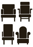 Furniture icons isolated on white Royalty Free Stock Images