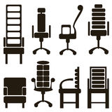Furniture icons isolated on white Stock Photography