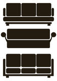Furniture icons isolated on white Stock Image