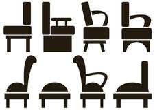 Furniture icons isolated on white Stock Photo