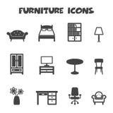 Furniture icons Royalty Free Stock Photos