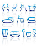 Furniture icons set Stock Image