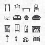 Furniture Icons set Stock Photo