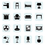 Furniture icons set Royalty Free Stock Photo