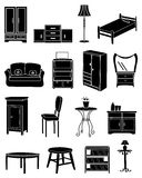Furniture icons set Royalty Free Stock Images