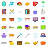 Furniture icons set, cartoon style Stock Photography