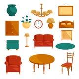 Furniture icons set, cartoon style Stock Photography