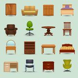 Furniture Icons Set Royalty Free Stock Image