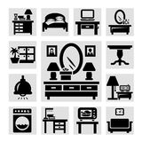 Furniture icons set Stock Photos