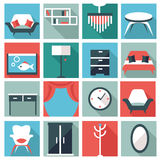 Furniture icons Royalty Free Stock Photo