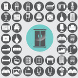 Furniture icons set. Stock Photos