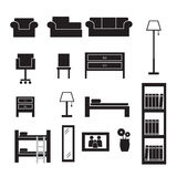 Furniture icons set Stock Photography