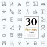 30 furniture icons Royalty Free Illustration