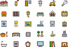 Furniture icons Royalty Free Stock Photography
