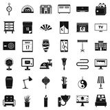 Furniture icons set, simple style. Furniture icons set. Simple style of 36 furniture vector icons for web isolated on white background Stock Photo
