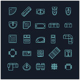 Furniture icons set, top view Royalty Free Stock Photography