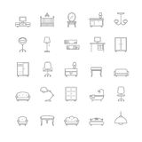 Furniture icons set. For your design Stock Image