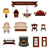 Furniture icons. A vector illustration of furniture icons designs Stock Images