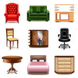 Furniture icons vector set Stock Photography