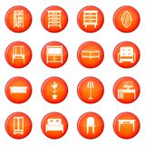 Furniture icons vector set Royalty Free Stock Photos