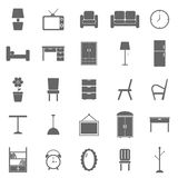 Furniture icons on white background Royalty Free Stock Images