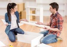 Furniture installation Stock Photo