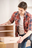 Furniture installation Stock Images