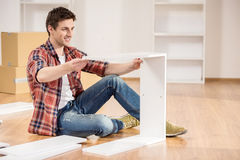 Furniture installation Royalty Free Stock Images