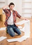 Furniture installation Royalty Free Stock Photos