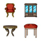 Furniture, interior, design, chair .Furniture and home interiorset collection icons in cartoon style vector symbol stock Stock Photos