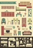 Furniture & interior icons Stock Image