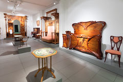Furniture in interior of Museo de Modernismo Catalan Royalty Free Stock Image